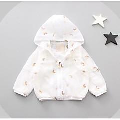 billige Overtøj til babyer-Baby Pige Trykt mønster Patchwork Langærmet Jakke og frakke / Sødt