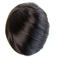 billiga Peruker och hårförlängning-Herr Remy-hår Tupéer 100 % handbundet / Hel-spets