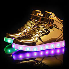 Men's / Unisex Light Up Shoes PU(Polyurethane) Spring / Fall Sneakers Black / Silver / Red