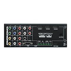 baratos -Factory OEM SNH0801 9 HDMI 1.3 HDMI 1.4 VGA 3,5 milímetros de áudio Jack 1RCA 3RCA YPbPr COAX HDMI 1.3 HDMI 1.4 3,5 milímetros de áudio