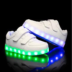 Para Meninos / Para Meninas Sapatos Couro Ecológico Verão / Outono Tênis com LED Tênis LED para Crianças Branco / Preto