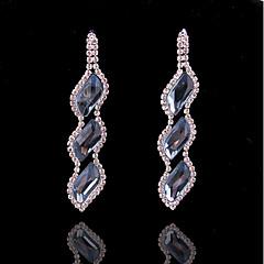cheap Earrings-Women's Bohemian Crystal / Silver Plated Stud Earrings / Hoop Earrings - Bohemian / Fashion Silver Waves Earrings For Wedding / Office &