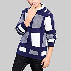 billige Jakker og frakker til drenge-Børn Drenge Ternet Langærmet Bluse