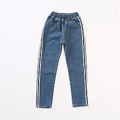billige Bukser og leggings til piger-Børn Pige Basale Stribet Uden ærmer Bukser