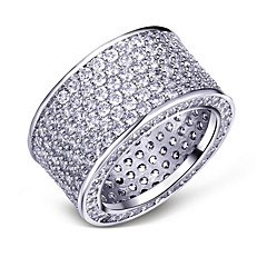 cheap Women's Jewelry-Women's Cubic Zirconia Silver Plated Gold Plated Band Ring - Circle Fashion European For Party Gift