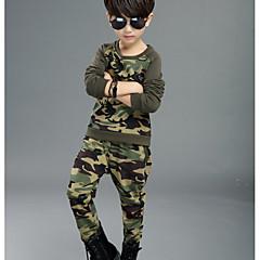 tanie Odzież dla chłopców-Dzieci Dla chłopców Podstawowy Urlop Geometryczny Długi rękaw Bawełna Komplet odzieży / Urocza