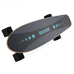 preiswerte -Four Wheel Electric Skateboard Single Driving Wireless Remote controller Flache & Plattform Rutschfest Elektrischer Roller mit 4 Rädern