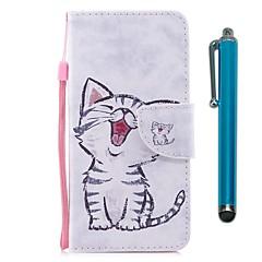 billige Telefoner og nettbrett-Etui Til Huawei Y6 (2017)(Nova Young) Y5 II / Honor 5 Kortholder Lommebok med stativ Flipp Magnetisk Heldekkende etui Katt Hard PU Leather