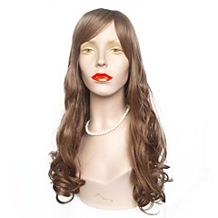 cheap Wigs & Hair Pieces-Synthetic Wig Women's Wavy Brown Layered Haircut Synthetic Hair Natural Hairline Brown Wig Long Capless Brown