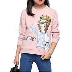 tanie Odzież dla dziewczynek-T-shirt Bawełna Dla dziewczynek Haft Jesień Na każdy sezon Rękaw 3/4 Kwiatowy White Blushing Pink