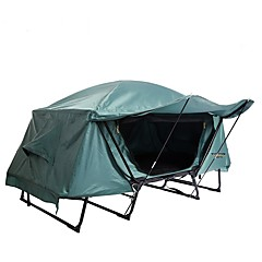 cheap Tents, Canopies & Shelters-1 person Tent Double Camping Tent Outdoor Automatic Tent Windproof Rain-Proof for Fishing Camping / Hiking / Caving Traveling 2000-3000 mm