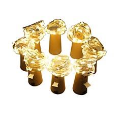 billiga Dekorativ belysning-2m Ljusslingor 160 lysdioder SMD 0603 Varmvit Dekorativ / Jul 3 V / Batterier Drivs 8pcs
