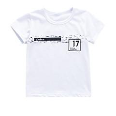 baratos Roupas de Meninos-Bébé Para Meninos Geométrica Manga Curta Camiseta