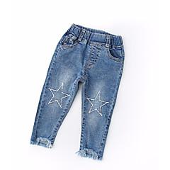 billige Babyunderdele-Baby Pige Aktiv Geometrisk Bomuld Jeans