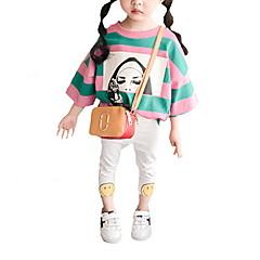 billige Babytøj-Baby Pige Farveblok 3/4-ærmer T-shirt / Sødt