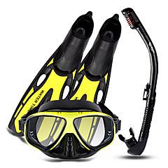 billiga Dykmasker, snorklar och simfötter-Snorklingspaket / Dykning Paket - Dykmaske, Dykfenor, Snorkel - Anti-dimma, Explosionssäker, Mjuk Simmning, Dykning, Snorkelfenor Silikon