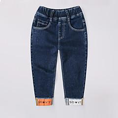 billige Drengebukser-Børn Drenge Trykt mønster Patchwork Jeans