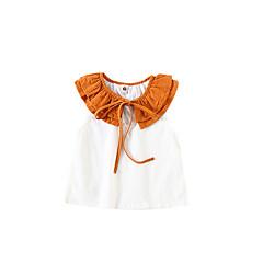 billige Babyoverdele-Baby Pige Aktiv Farveblok Uden ærmer Polyester T-shirt Blå