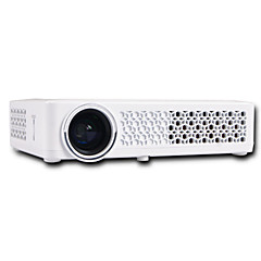 cheap -HTP DLP-800W DLP Mini Projector LED Projector 500 lm Android 4.4 Support 1080P (1920x1080) 20-200 inch Screen / WXGA (1280x800)