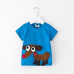 Χαμηλού Κόστους Βρεφικά μπλουζάκια-Μωρό Γιούνισεξ Στάμπα Κοντομάνικο Μπλούζα