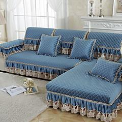 billige Hjemmetekstiler-Sofa Pute Ensfarget Reaktivt Trykk Bomull / Polyester slipcovere