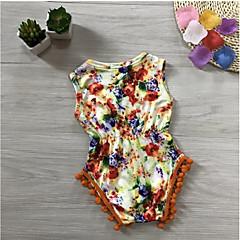 billige Bukser og leggings til piger-Baby Pige Aktiv Trykt mønster Bomuld Overall og jumpsuit