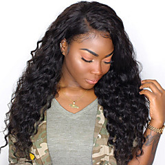 cheap Wigs & Hair Pieces-Human Hair Unprocessed Human Hair Lace Front Wig Brazilian Hair Wavy Wig Side Part 250% Density with Baby Hair Natural Hairline Unprocessed Natural Women's Short Medium Length Long Human Hair Lace Wig