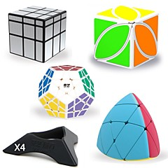 tanie Kostki Rubika-Kostka Rubika 8 szt QIYI B Kosmita Megaminx Kostka Ivy 3*3*3 55 x 5 Gładka Prędkość Cube Magiczne kostki Kostki Rubika Puzzle Cube profesjonalnym poziomie Zabawki biurkowe Odporność na zurzycie Dla