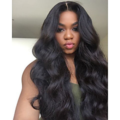 cheap Wigs & Hair Pieces-Remy Human Hair Lace Front Wig Brazilian Hair Wavy Wig 150% Density with Baby Hair 100% Virgin Women's Long Wig Accessories beikashang
