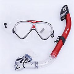 billiga Dykmasker, snorklar och simfötter-WAVE Snorklingspaket / Dykning Paket - Dykmaske, Snorkel - Anti-Dimma, Explosionssäker, Mjuk Simmning, Dykning, Snorkelfenor Silikon, PVC