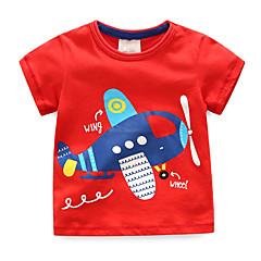billige Overdele til drenge-Børn / Baby Drenge Blå & Hvid Patchwork Kortærmet T-shirt