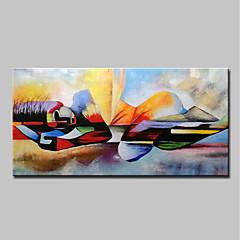 voordelige Olieverfschilderijen-Hang-geschilderd olieverfschilderij Handgeschilderde - Mensen Religieus Modern Inclusief Inner Frame / Uitgerekt canvas