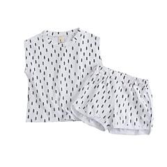 billige Tøjsæt til drenge-Baby Drenge Galakse Uden ærmer Tøjsæt