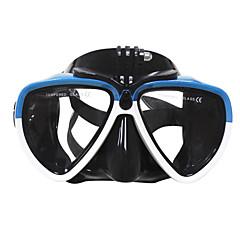 billiga Dykmasker, snorklar och simfötter-Simglasögon / Snorkelmask Anti-Dimma, UV-skydd, Vattentät Dykning, Simmning Gummi, Härdat glas För Vuxen