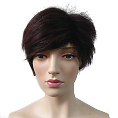 billiga Peruker och hårförlängning-Syntetiska peruker / Kostymperuker Rak Frisyr i lager Syntetiskt hår Värmetåligt / Dam / syntetisk Röd Peruk Dam Korta Utan lock Svart / Röd / doll Wig / Naturlig hårlinje