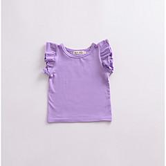 billige Babyoverdele-Baby Pige Ensfarvet Uden ærmer T-shirt / Sødt