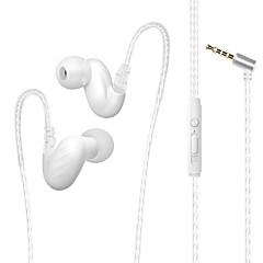 billiga Headsets och hörlurar-Factory OEM D-15 I öra Kabel Hörlurar Hörlurar Metallskal Mobiltelefon Hörlur Stereo / mikrofon headset