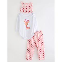 billige Tøjsæt til piger-Baby Pige Ensfarvet Prikker Langærmet Tøjsæt