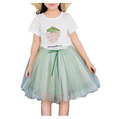 billige Tøjsæt til piger-Børn Pige Frugt Kortærmet Tøjsæt