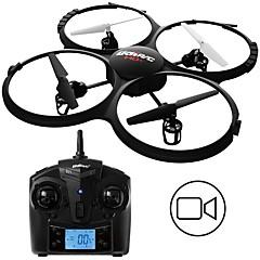 billige Fjernstyrte quadcoptere og multirotorer-RC Drone UDI R / C U818A BNF 4 Kanaler 6 Akse 2.4G Med HD-kamera 2.0MP 720P Fjernstyrt quadkopter Hodeløs Modus Fjernstyrt Quadkopter /