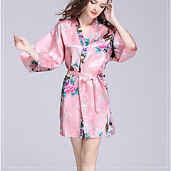 cheap Towels & Robes-Superior Quality Bath Robe, Floral / Animal 100% Polyester Bathroom 1 pcs