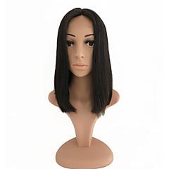 billiga Peruker och hårförlängning-Remy-hår Spetsfront Peruk Brasilianskt hår / Eurasiskt hår Rak Bob-frisyr 150% Densitet Naturlig hårlinje / Afro-amerikansk peruk