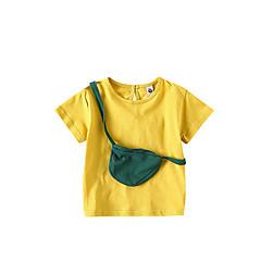 billige Babyoverdele-Baby Pige Aktiv Ensfarvet / Farveblok Kortærmet T-shirt
