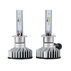 billige Frontlykter til bil-2pcs H1 Bil Elpærer 25W Integrert LED 3000lm 2 LED Hodelykt For Ford Rio / Forte / Focus Alle år