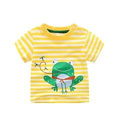 billige Overdele til drenge-Børn / Baby Drenge Prikker / Stribet / Patchwork Kortærmet T-shirt