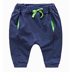 billige Drengebukser-Børn Drenge Basale Ensfarvet Polyester Bukser Grå