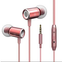billiga Headsets och hörlurar-JTX J02 I öra Kabel Hörlurar Mikrofon Aluminum Alloy Sport & Fitness Hörlur mikrofon / Bekväm headset