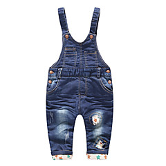 billige Babyunderdele-Baby Unisex Basale Ensfarvet Patchwork Bomuld Overall og jumpsuit
