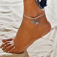 baratos Bijoux de Corps-Camadas Tornezeleira - Elefante, Sol Vintage, Boêmio, Tropical Branco Para Presente Bikini Mulheres
