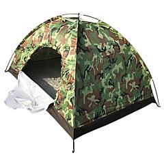 billige Telt og ly-4 personer Utendørs Hold Varm Stang Kuppel camping Tent til Camping & Fjellvandring Andre Material 200*140*110 cm